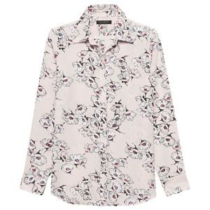 Banana Republic pink floral shirt